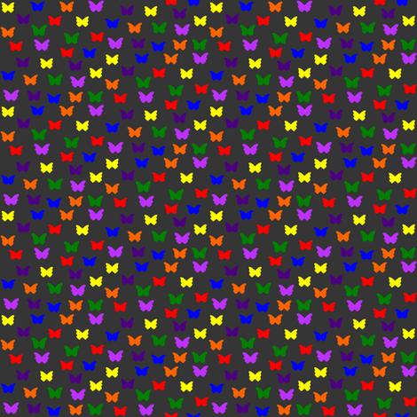28Gifts Rainbow Butterflies Dark fabric by dualsunsdesign on Spoonflower - custom fabric