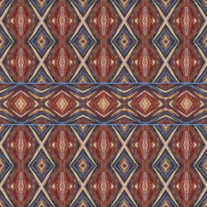 Brown Blue Abstract Painted Geometric | Artistic Texture