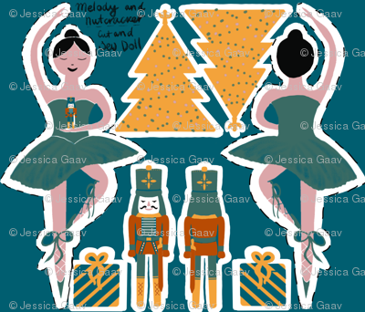 Ballerina and nutcracker cut and sew