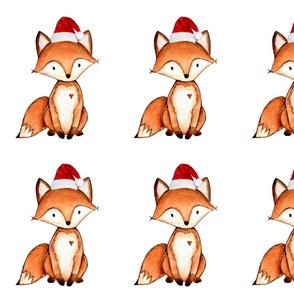 fox - santa hat