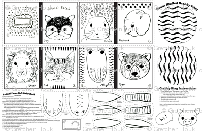 animal faces baby book