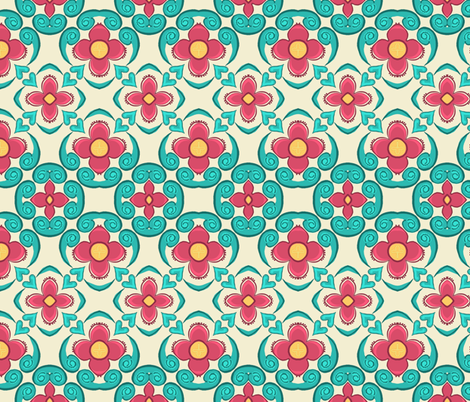 Aurora's Dream / Garden Aisle    fabric by franbail on Spoonflower - custom fabric