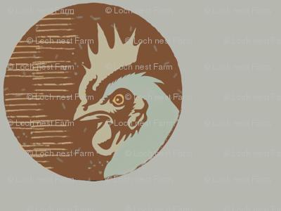 Jumbo Graphic Rooster Dot | Organic Eggshells