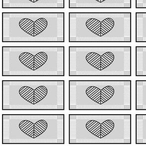 Jewish Heart (gray)