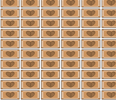 Jewish Heart (brown) fabric by rayhunt on Spoonflower - custom fabric