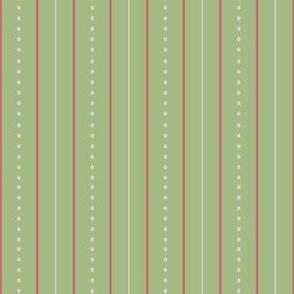 Vintage Garden Lime Stripe