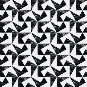 pulled teeth and pentagonal tessellations no. 1