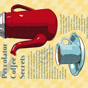 Memaw's Percolator Coffee Secrets Tea Towel