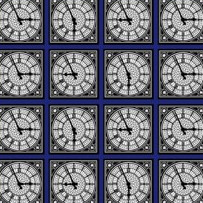 Big Ben's Clock Face (blue)