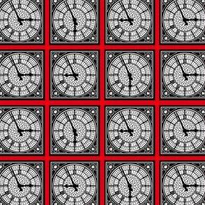 Ben's Clock Face (red)