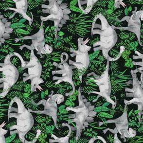 Dinosaur Jungle green large print rotated