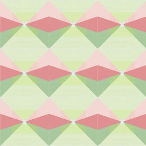 Geometric - green pink