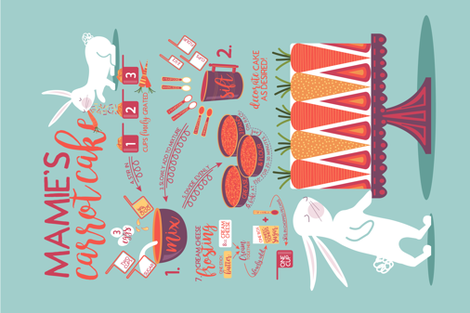 Mamie's Carrot Cake fabric by nanshizzle on Spoonflower - custom fabric
