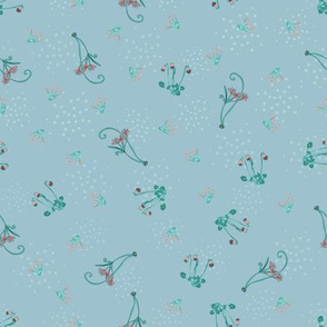 Ditsy Flowers light blue