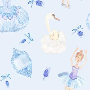 Ballet Dancer in Blue