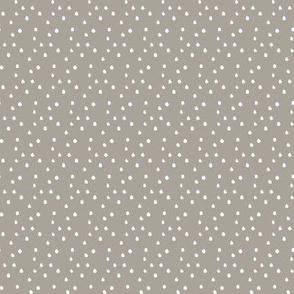 Women in Head Scarves Dots Grey