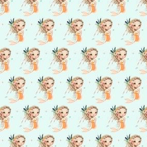 "1.5"" Peach Mermaid / Teal"