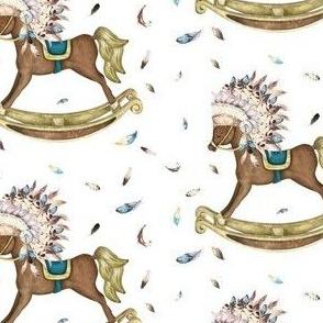 """4"""" Boho Rocking Horse"""