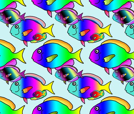 shoal 2 fabric by the_hoarder's_art_room on Spoonflower - custom fabric