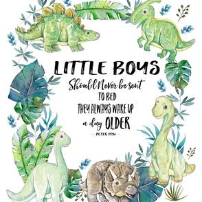 "54""x72"" Little Boys Quote Dino"