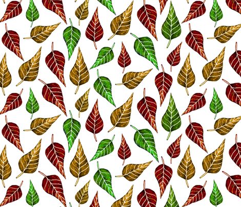 Autumn leaves fabric by jennablackzen on Spoonflower - custom fabric