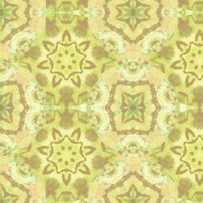 soft gold green and blush tile