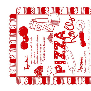 Pizza Rolls Recipe Tea Towel