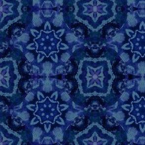 silver and indigo tile