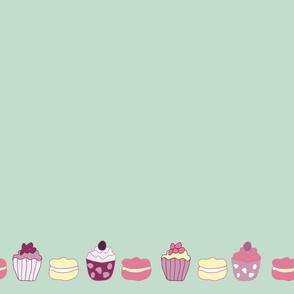 Summer cakes border
