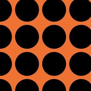 Black Dots on Orange
