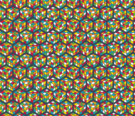 Geek Cubes Bright fabric by penny_eversole on Spoonflower - custom fabric
