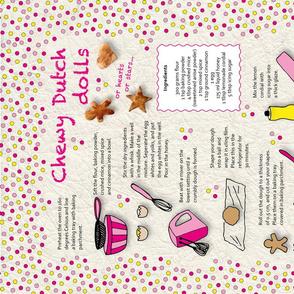 Recipe Tea Towel  Chewy Dutch Dolls