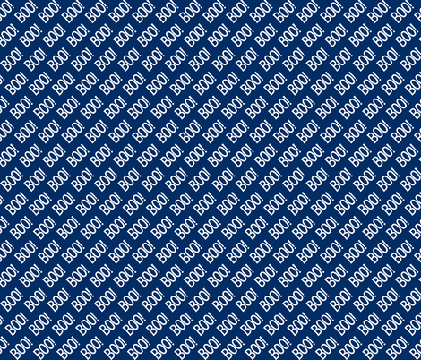 BOO Halloween Blue White Cute Halloween fabric by khaus on Spoonflower - custom fabric