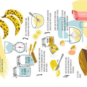 Banana Bread recipe tea towel