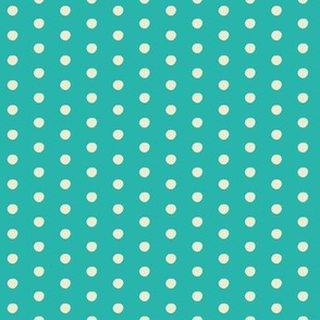Aurora's Dream / Polka-dots on turquoise