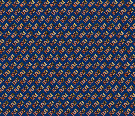 BOO Halloween Orange Dark Blue Cute Halloween fabric by khaus on Spoonflower - custom fabric