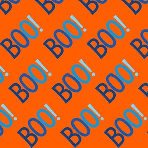 BOO Halloween Blue Orange Cute Halloween