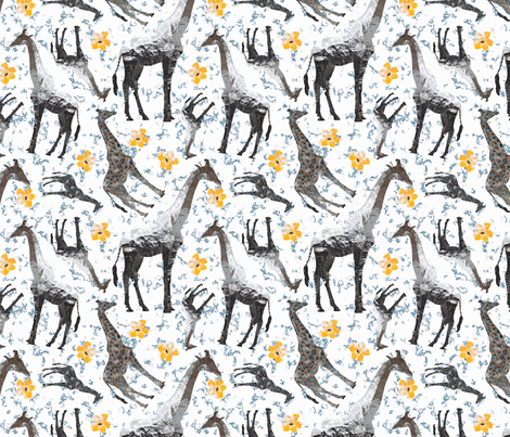 PATTERNTILE3giraffeyellow fabric by nadderzique on Spoonflower - custom fabric