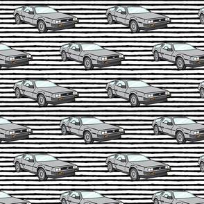 the DeLorean - black stripe
