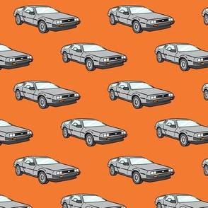 the DeLorean  - orange