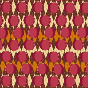Thanksgiving argyle with cranberries