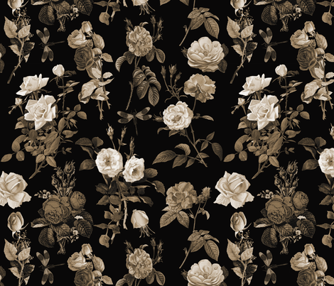 Primrose Path Sepia fabric by kwmeredith on Spoonflower - custom fabric