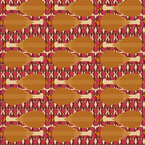 Thanksgiving argyle with cranberries and turkey