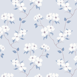 Dogwood Branches- Blue Grey