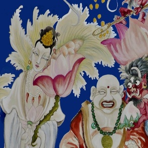Kuan Yin & Laughing Buddha