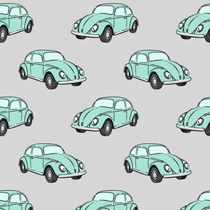 mint bugs - (grey) beetle car