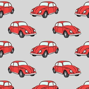 red bugs - (grey) beetle car