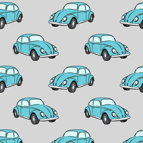 blue bugs - (grey) beetle car