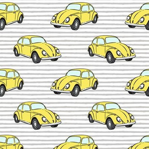 yellow bugs - (grey stripe) beetle car