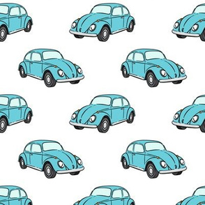 blue bugs -  beetle car